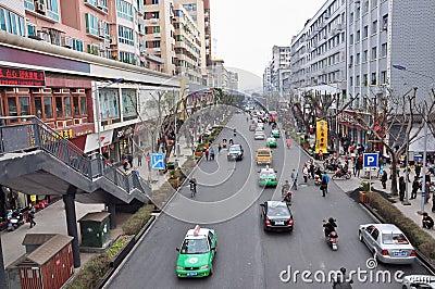 Mofan Street,Nanchong,China Editorial Photography