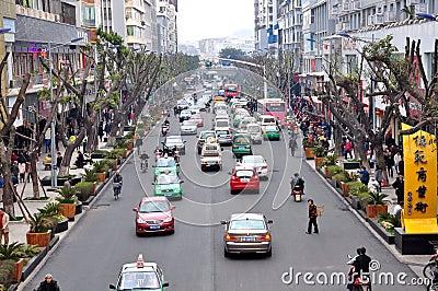 Mofan Street,Nanchong,China Editorial Image