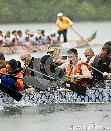 The MOFO Dragon Boat racing Editorial Image