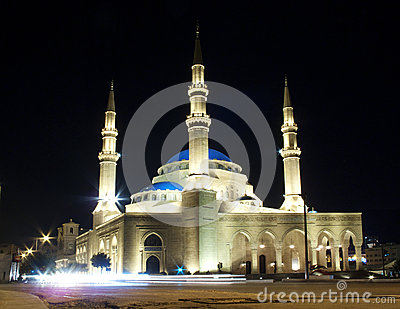 Mohammad al-Amin mosque in central beirut lebanon