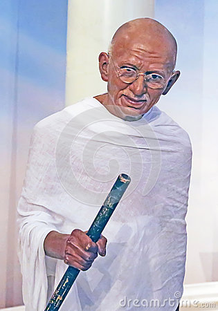 Mohandas Gandhi in Wax Editorial Stock Image