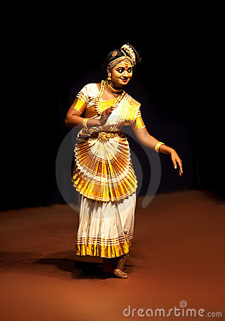 Mohiniyattam dance Editorial Stock Image