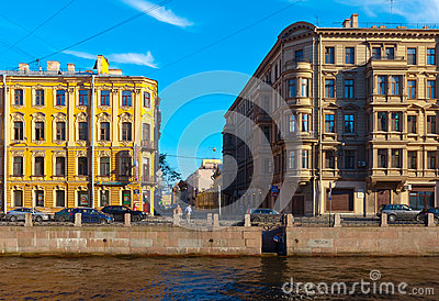 Moika Embankment. Saint Petersburg, Russia Editorial Image