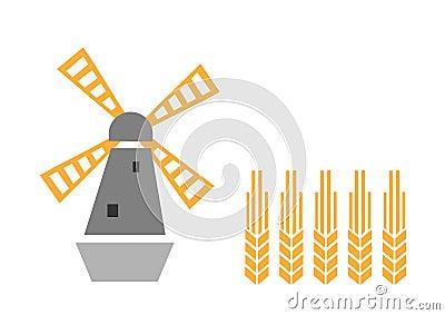 Moinho de vento e orelha