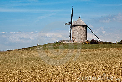 Moinho de vento em Normandy
