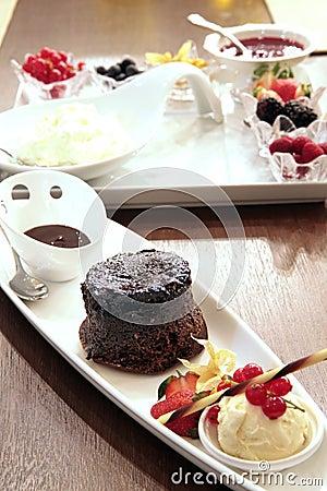 Moist chocolate cake dessert