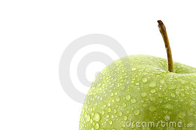 Moist green apple