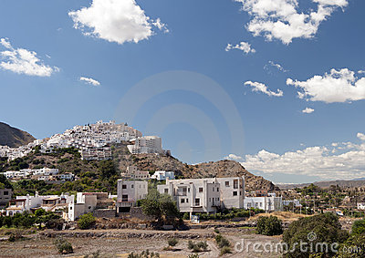 Mojacar Village in the sunshine, Spain