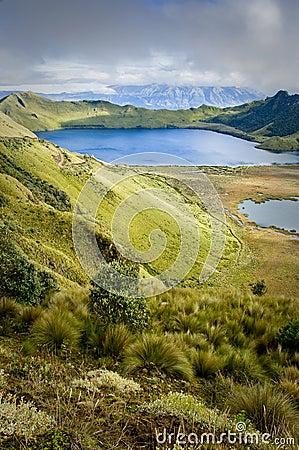 Mojanda lagoon in Ecuador