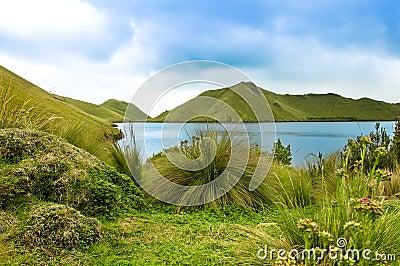 Mojanda lake in Ecuador