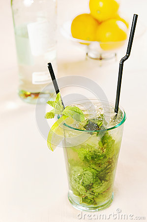 Mojito cocktail in a glass