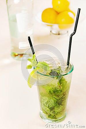 Mojito cocktail in a glass