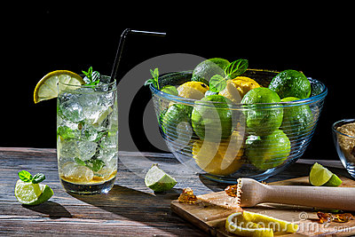 Mojito made ​​of fresh citrus