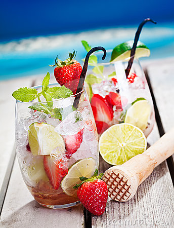 Mojito with Strawberries