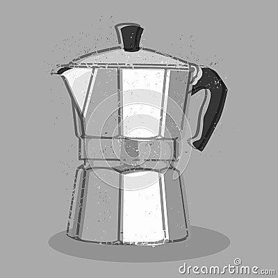 Italian Coffee Maker Vector : Moka Coffee Maker Royalty Free Stock Photo - Image: 36750385