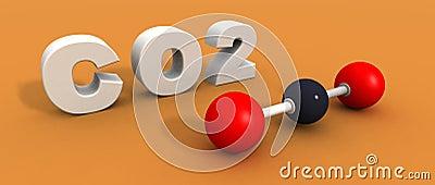 Molécula del dióxido de carbono