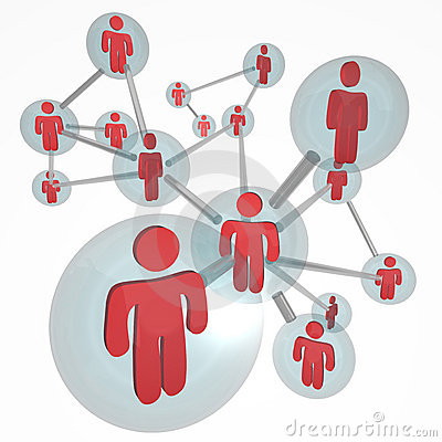Molécula social de la red - conexiones