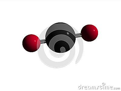 Molécule de bioxyde de CO2 de carbone