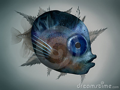 Mola Mola Larva - Digital Illustration