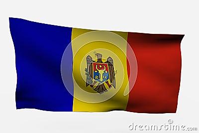 Moldavia 3d flag