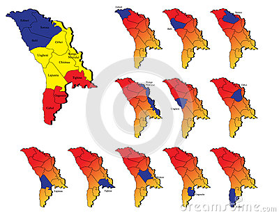 Moldavia provinces maps
