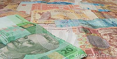 Moldavian and Ukrainian money, hryvna and leu