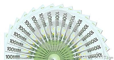 Molde de 100 notas do Euro