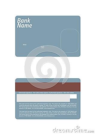 molde exato do cartão de crédito da dimensão fotografia de stock