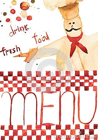 Molde para o menu