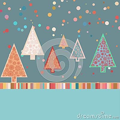 Molde retro do cartão de Natal. EPS 8