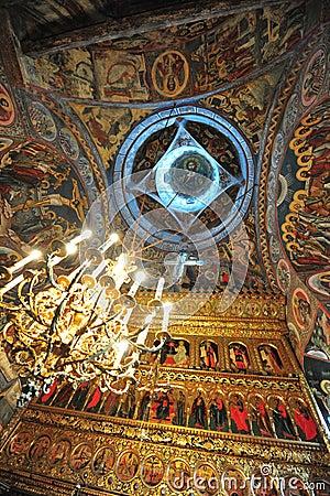 Moldovita monastery - interior details