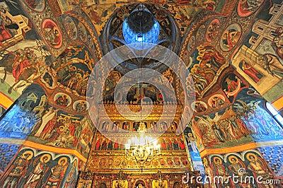 Moldovita monastery - interior saints paintings