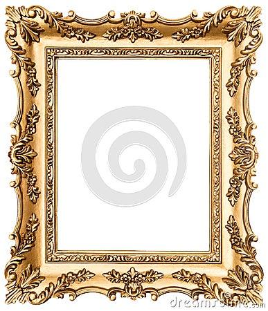 Moldura para retrato dourada do vintage isolada no branco for Molduras para espejos online