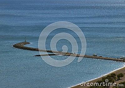 Mole at Adriatic sea