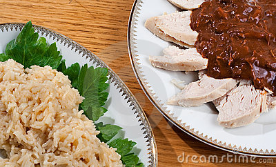 Mole with Chicken and Rice