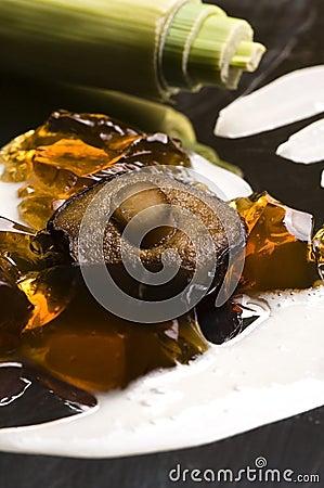 Molecular gastronomy - mushroom soup
