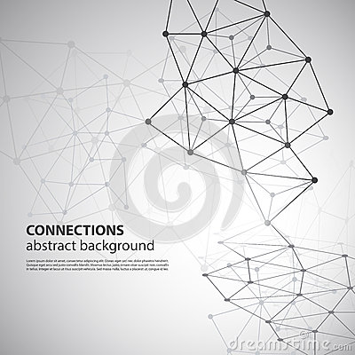 Free Molecular, Global Or Business Network Connections  Stock Image - 42397501