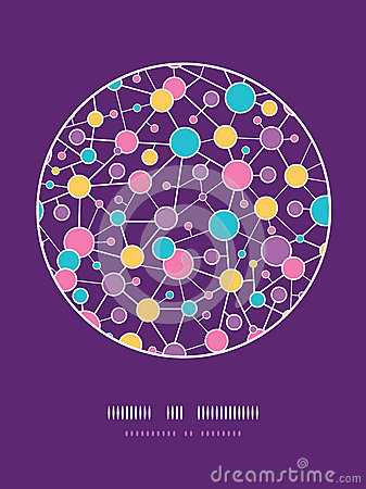 Molecular Structure Circle Seamless Pattern