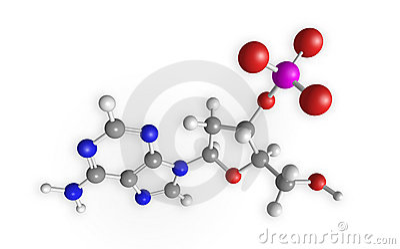 Molecule 3D rendering