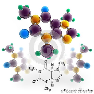 Molecule structure of caffeine