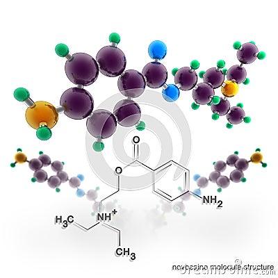 Molecule structure of novocaine