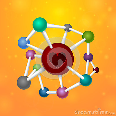 Free Molecules Heart Stock Photography - 43200612
