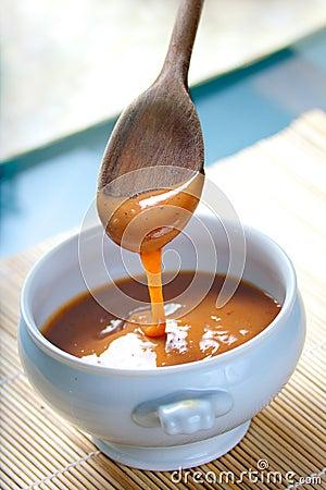Molho mexicano do caramelo de Cajeta