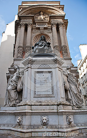 Moliere statue in paris france