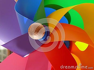 Molino de viento colorido