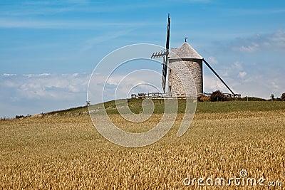 Molino de viento en Normandía