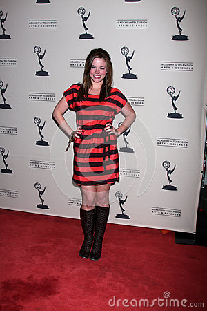 Molly Burnett arrives at the ATAS Daytime Emmy Awards Nominees Reception Editorial Stock Photo