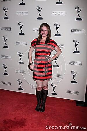 Molly Burnett arrives at the ATAS Daytime Emmy Awards Nominees Reception Editorial Stock Photo