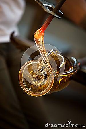 Molten Glass Close Up