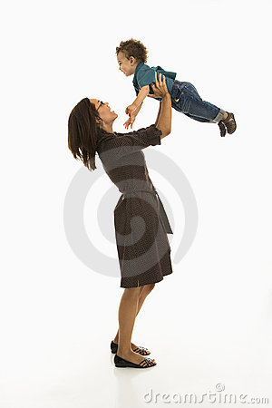 Free Mom And Happy Baby. Royalty Free Stock Photo - 3422715